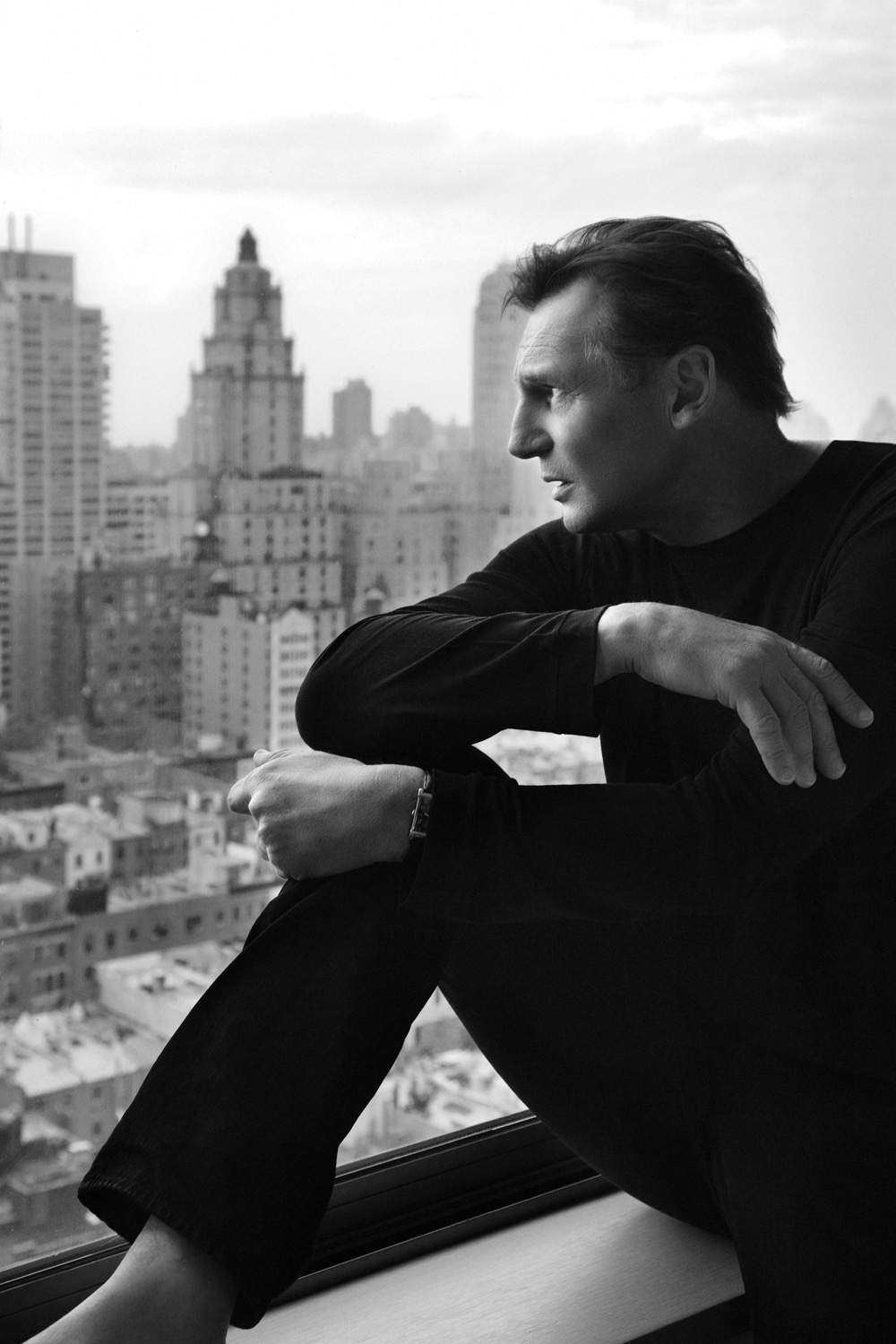 LIAM NEESON PHOTOGRAPHED AT HOME BY BARRY MCCALL FOR PHO20GRAPHY