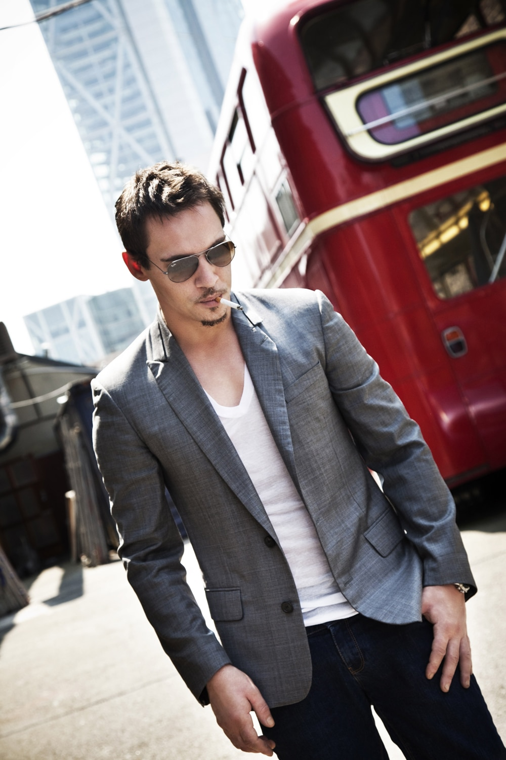 JONATHAN RHYS MEYERS AT SHOREDITCH STUDIOS PHOTOGRAPHED BY BARRY MCCALL FOR PHO20GRAPHY