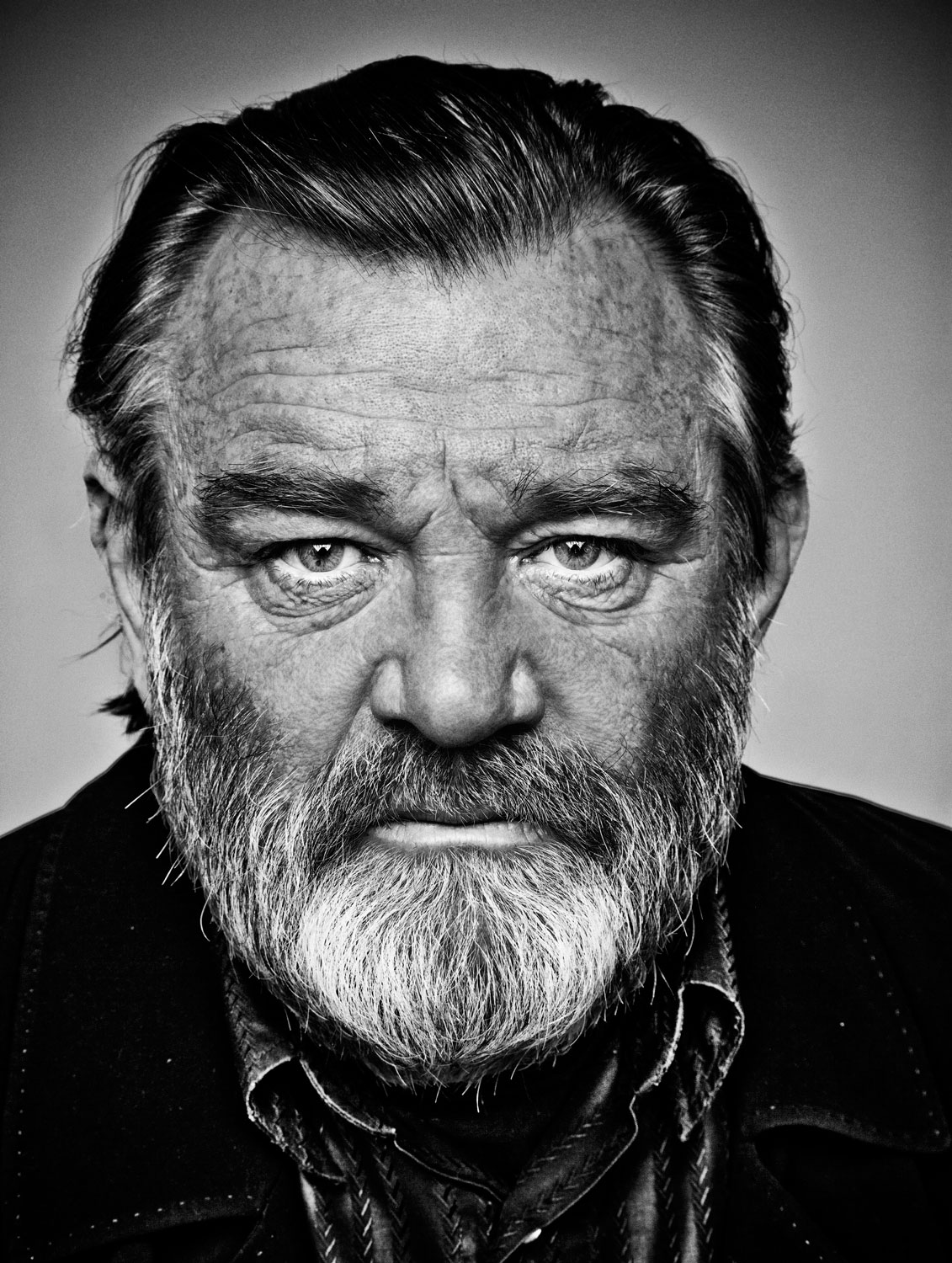 BRENDAN GLEESON AT 9 BOND STREET STUDIOS. PHOTOGRAPHED BY BARRY MCCALL FOR NEW YORK MOVES MAGAZINE