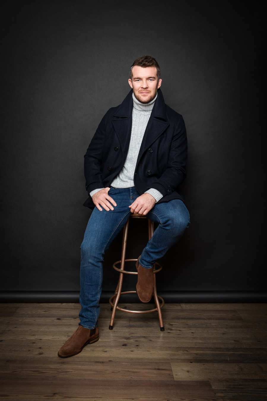 Irish Photographer Barry McCall shoots Munster Rugby Star Peter O'Mahony for Marks and Spencer