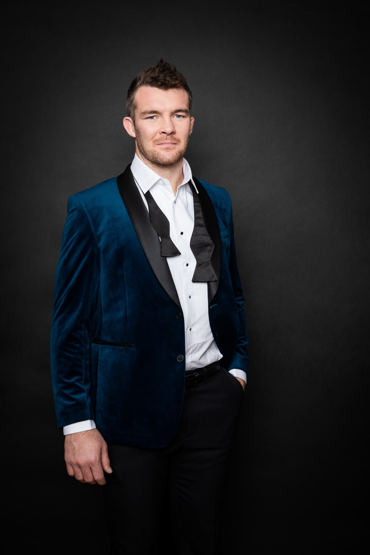 Irish Photographer Barry McCall shoots Rugby Star Peter O'Mahony for Marks and Spencer